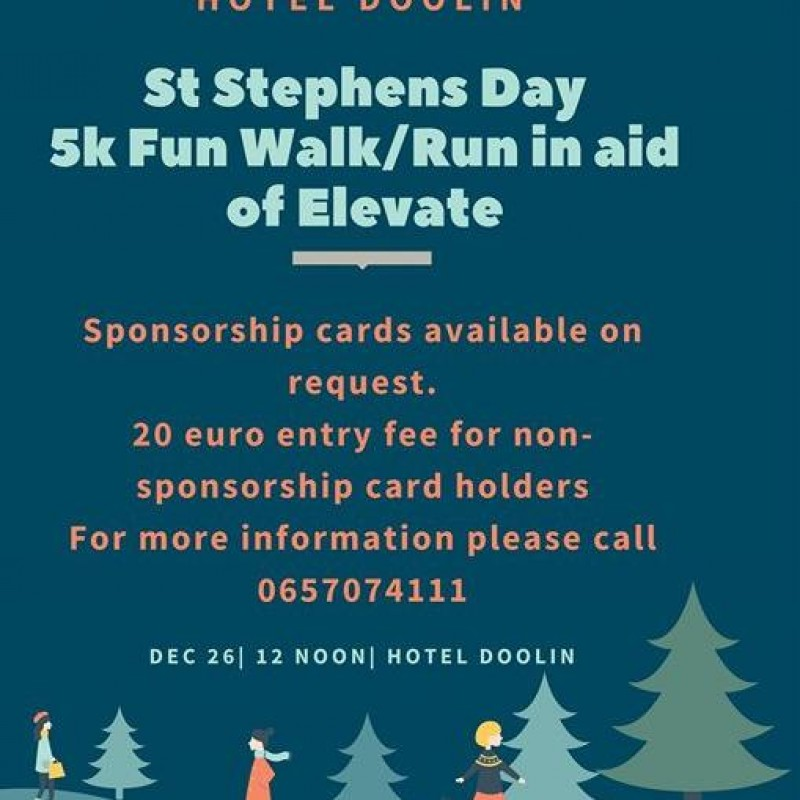 St Stephens Day Fun Family Walk/Jog/Run in aid of Elevate - Clare FM