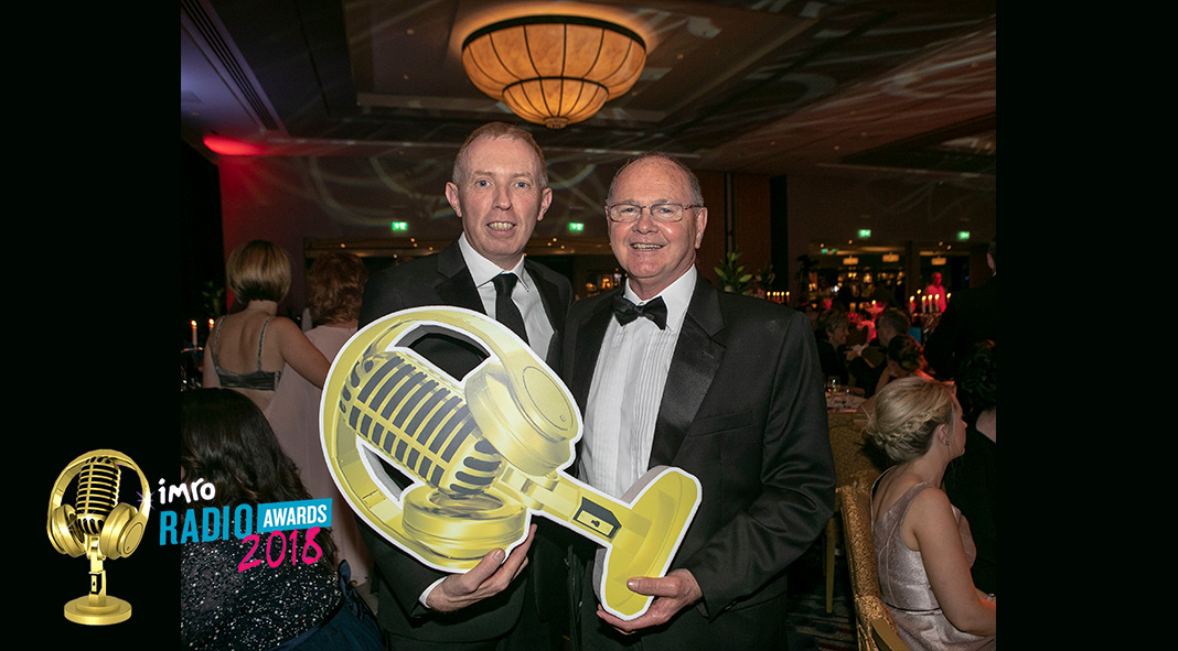 Pictured at the IMRO 2018 radio awards were Timmy Dooley TD and Clare FM's Managing Director Liam O'Shea