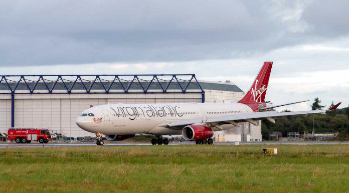 Znalezione obrazy dla zapytania Virgin Atlantic A333 over Atlantic on Aug 10th 2018, smoke on board
